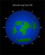 azimuth map